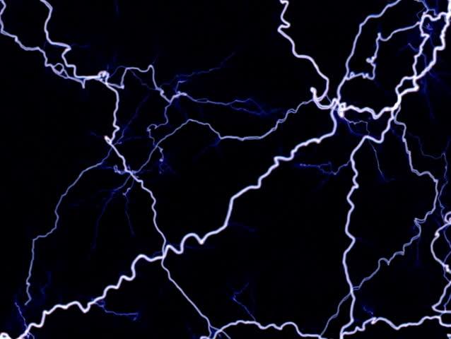 Full frame of multiple, layered lightning-effect electric arcs | Shutterstock HD Video #24689627