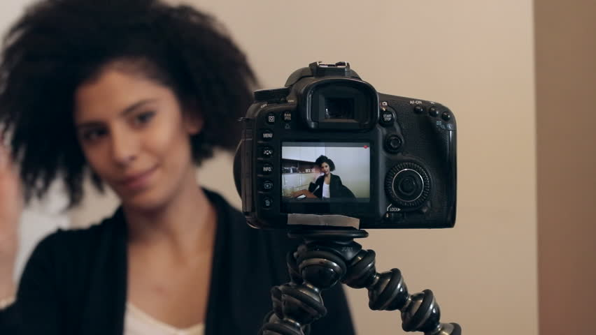 Influencer shooting video blog or vlog   Shutterstock HD Video #24758267