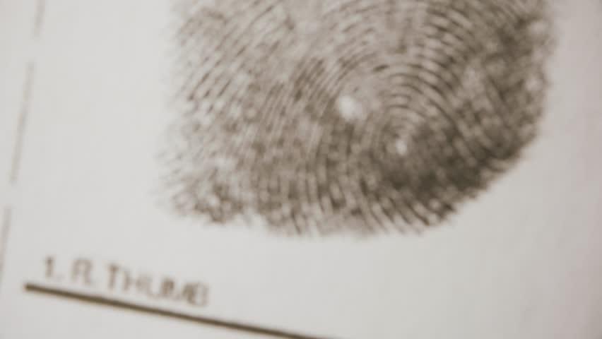 Investigate fingerprints. Macro shot.   Shutterstock HD Video #24789056