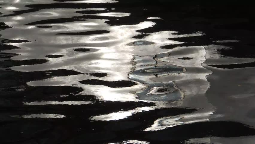 Colourful ripples in a canal in Slough - barge reflections | Shutterstock HD Video #24791465