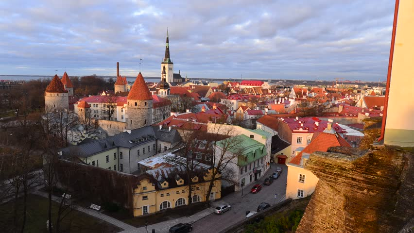 Time lapse of Tallin old town , Estonia  | Shutterstock HD Video #24857315