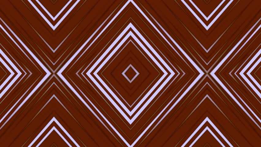 Animated computer composition in brown tones in the style of a kaleidoscope, looping without breaks