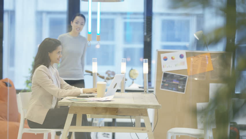4K Creative female business team discussing ideas in planning meeting | Shutterstock HD Video #24905150