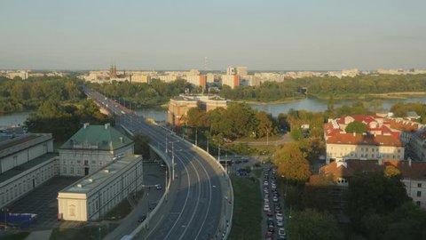 Poland, Masovian Voivodeship, Warsaw, View towards the Praga District