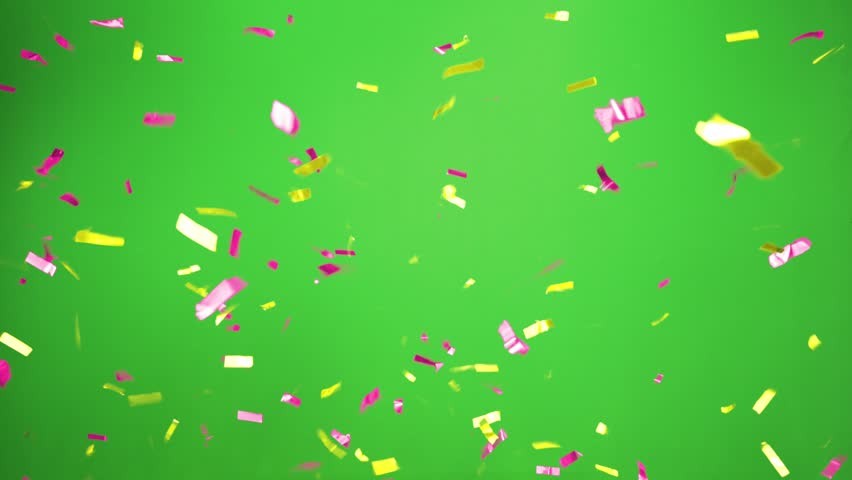 Real Confetti falling  soft and beautiful in the colors blue and pink with  Green screen for party and celebrations | Shutterstock HD Video #24916766