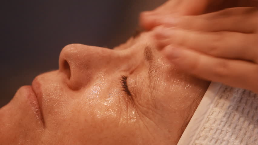 Heavy Bench Press Videos Part - 49: Woman Getting A Cosmetic Peel Off Mask Facial Massage At Spa Salon  Skincare. - HD