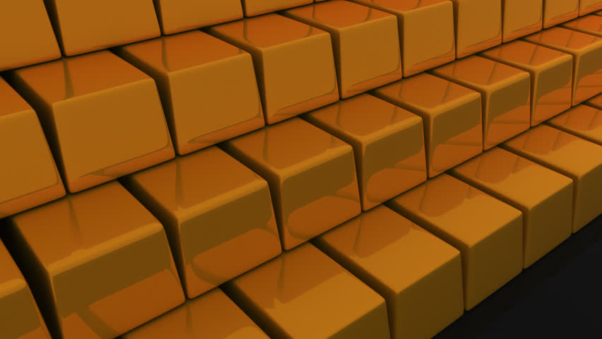 3D animation of many gold bar.   Shutterstock HD Video #25019045