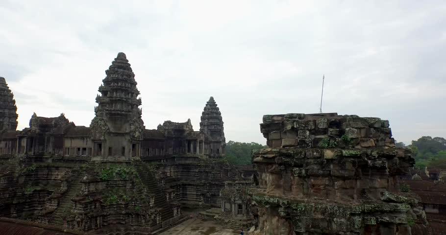 Aerial Angkor Wat Temple  #25026065