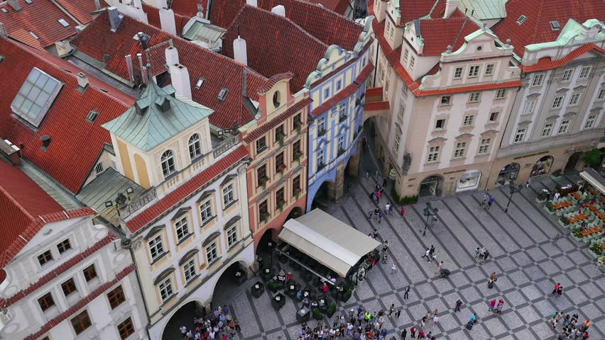 PRAGUE, CZECH REPUBLIC - SEPTEMBER 2016: View over square close to the Astronomical clock in Prague, Czech Republic