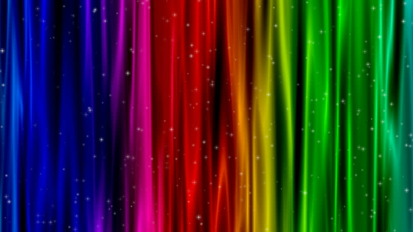 Rainbow Colors Curtain With Glitter Loop   4K Stock Footage Clip