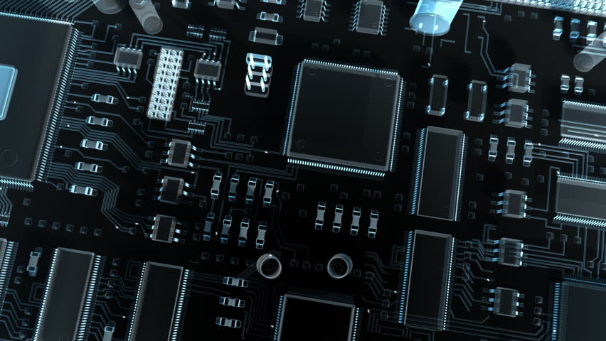 Abstract circuit board. High Technology 3d animation.  | Shutterstock HD Video #2506895