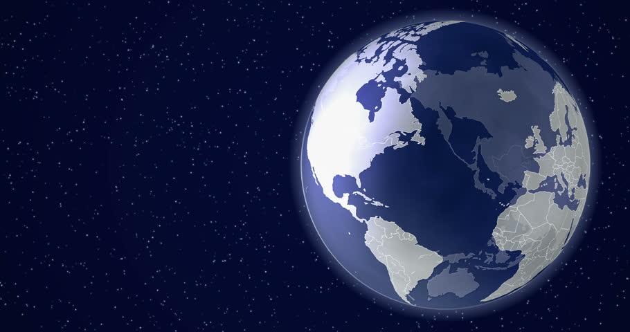 Saint Petersburg Animated World Map Stock Footage Video 100