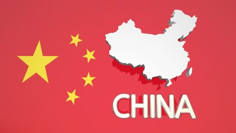 China Country Nation Map Asia Flag 3d Animation