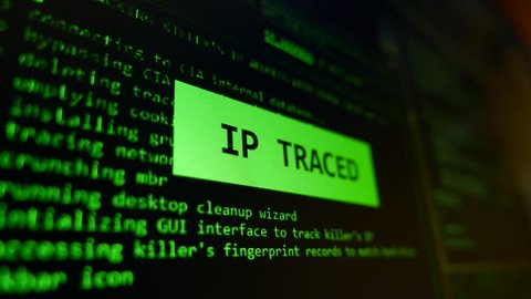 Initializing Tracking and Detecting Criminal Position by IP Address 4K Footage