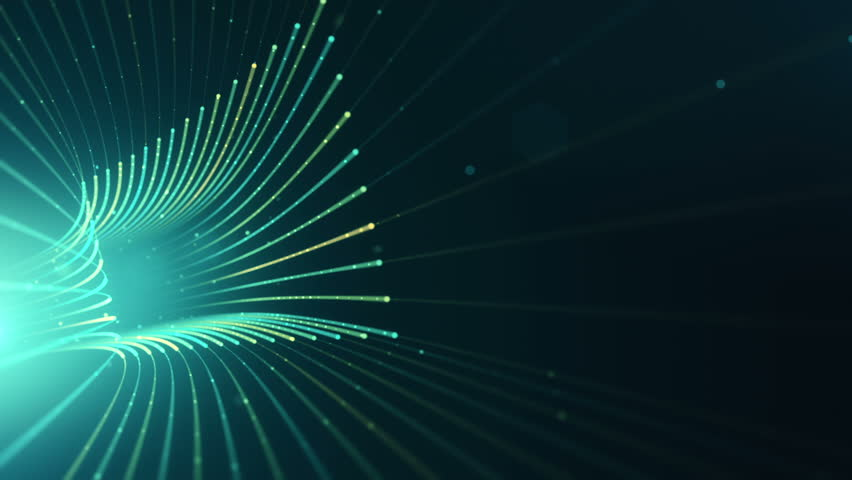 Abstract background with animation moving of lines for fiber optic network. Magic flickering dots or glowing flying lines. Animation of seamless loop. | Shutterstock HD Video #25151735