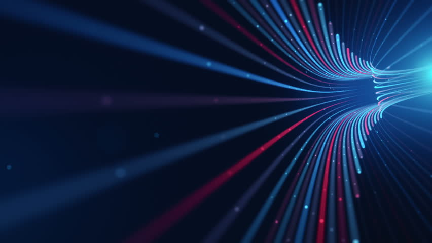 Abstract background with animation moving of lines for fiber optic network. Magic flickering dots or glowing flying lines. Animation of seamless loop. | Shutterstock HD Video #25152575