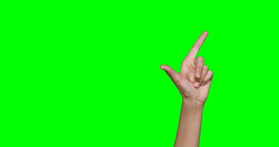 Hands making symbol against green screen | Shutterstock HD Video #25233170
