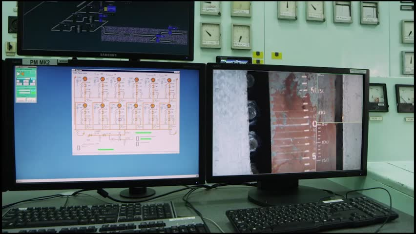 Counters and their indications in the Russian factory 2 | Shutterstock HD Video #25240955