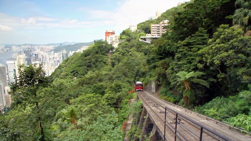 Venerable Peak Tram in Hong Kong