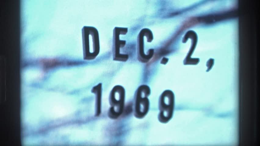 "MINNESOTA 1969: film label date, ""dec, 2, 1969"" | Shutterstock HD Video #25258118"