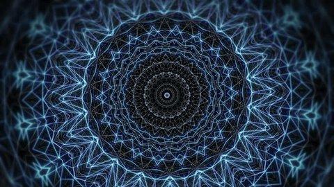 Blue mandala Concert video decoration