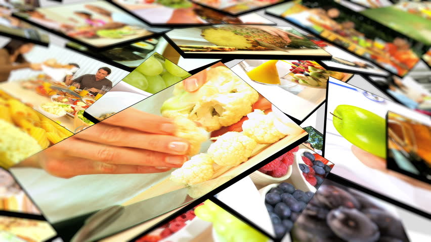 Montage 3D tablet images of Caucasian family healthy eating options at home | Shutterstock HD Video #2536175