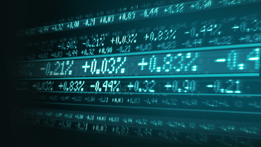 Rise and falls in the market index digitally displayed on graphics screen | Shutterstock HD Video #2539895