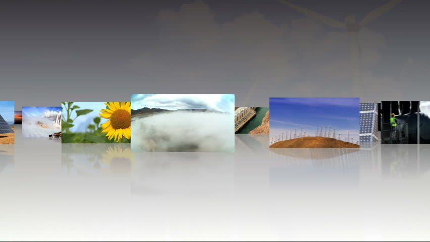 Compendium of fly through 3D tablet images of renewable sustainable energy production
