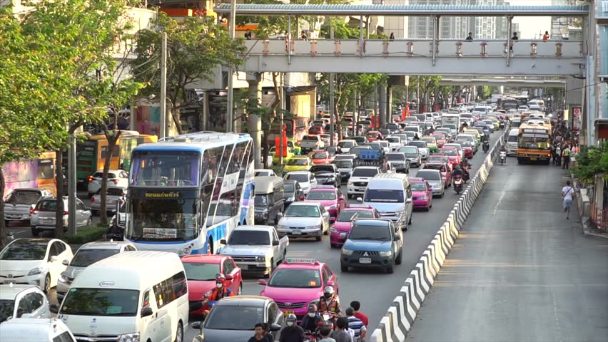traffic jams in bangkok Bangkok has the worst rush hour traffic in the world, followed by mexico city this helped people plan their drives and avoid severe traffic jams.
