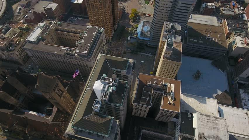 Aerial Pennsylvania Pittsburgh September 2016 4K | Shutterstock HD Video #25408445