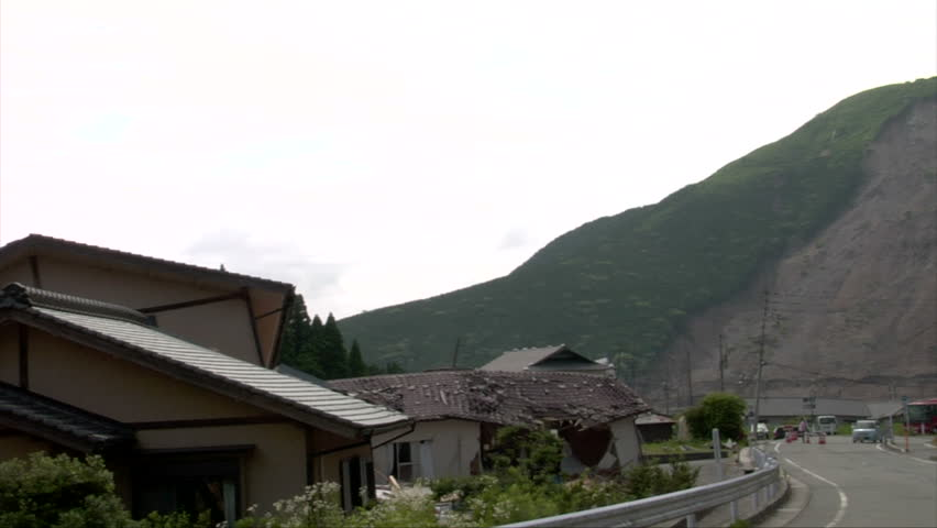 Earthquake Damaged Homes and Landslide Stock Footage Video (100%  Royalty-free) 25439495 | Shutterstock