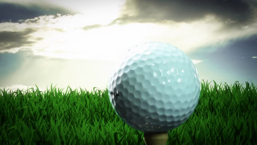 CG of Golf Ball Being Hit by club