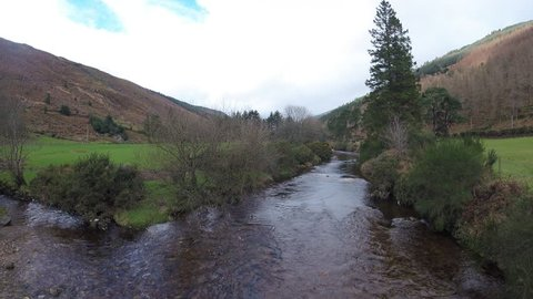 Wicklow Mountains in Ireland/ Wicklow Mountains / River in Wicklow Mountains - Ireland