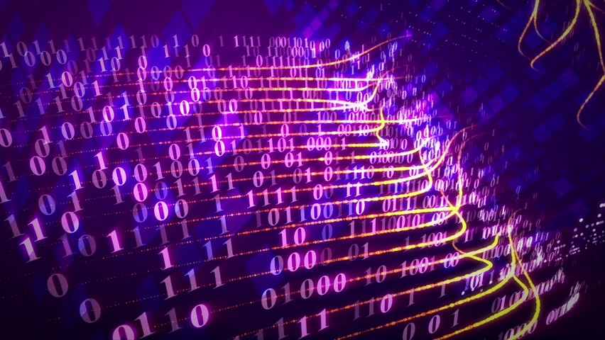 Lines of binary codes traveling through the path. Internet data technology concept. Seamless loop. | Shutterstock HD Video #25465805