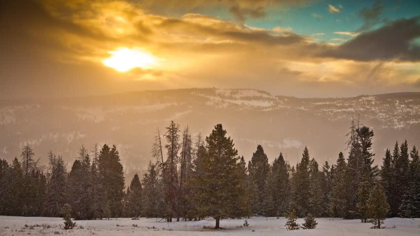 Sunrise over Big Sky Montana 1