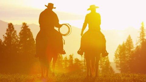 Canada Rockies, Riders at a Dude Ranch