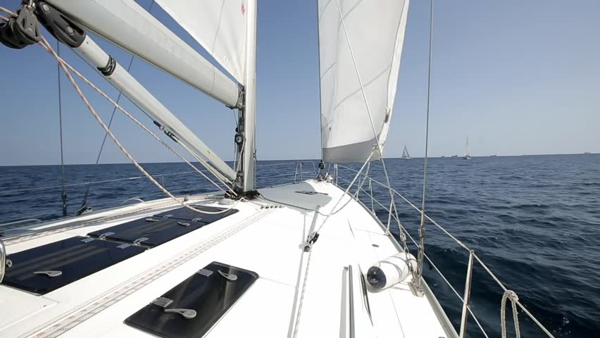 Many Sailboats Go Under White Stock Footage Video (100% Royalty-free)  25601285   Shutterstock