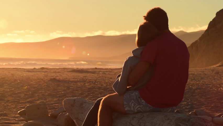 Cinemagraph - Relaxing Sunset on the Beach. Looping Motion Photo
