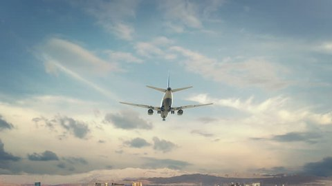 Airplane Landing Las Vegas USA