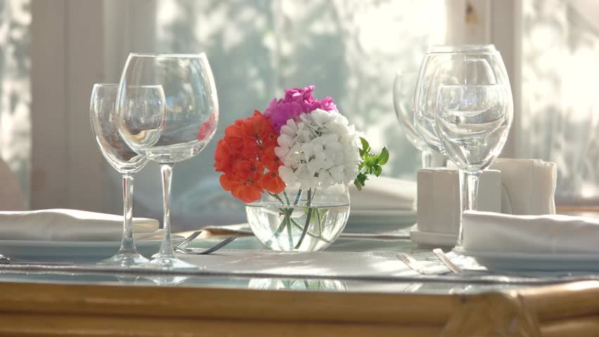 Flower Vase On Dining Table Stock Footage Video 100 Royalty Free 25713245 Shutterstock