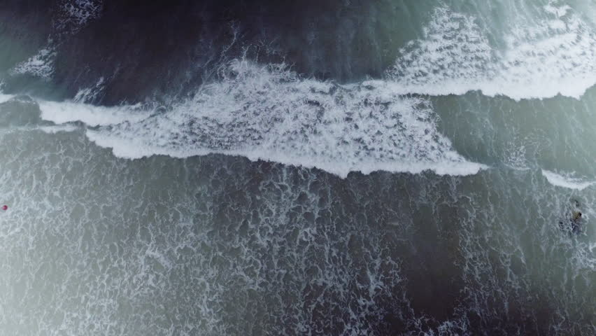 Overhead aerial, Cornwall Beach waves | Shutterstock HD Video #25740245