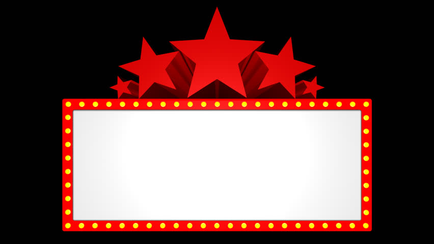 Animated Red Star Marquee Stock Footage Video (100% ...