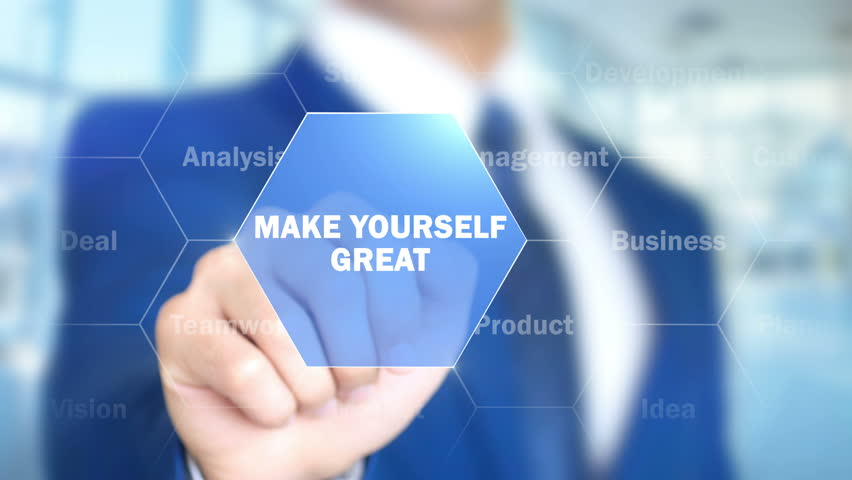 Make yourself Great, Businessman working on holographic interface, Motion | Shutterstock HD Video #25761245