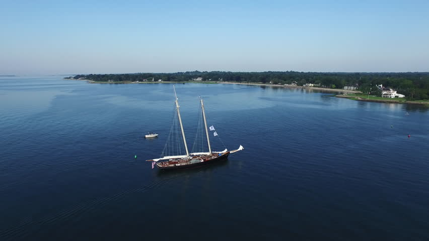 Aerial, Yacht in Southport, CT | Shutterstock HD Video #25789505