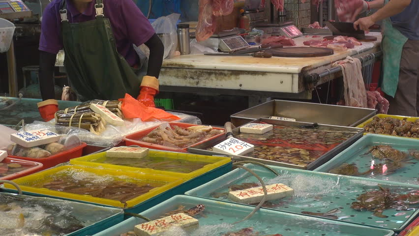 Fresh Seafood for Sale, Street Stock Footage Video (100% Royalty-free)  2586905 | Shutterstock