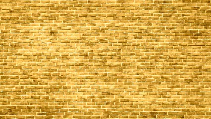 Zoom Out Yellow Brick Wall Backgrounds Stock Footage