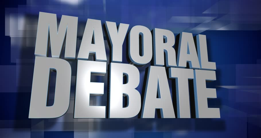 A blue dynamic 3D Mayoral Debate transition and title page animation. 5 and 2 second options included with optional luma matte for both.  | Shutterstock HD Video #25897775