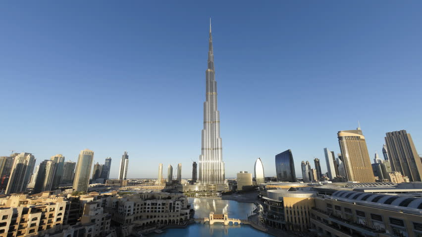 DUBAI, UNITED ARAB EMIRATES - CIRCA MAY 2011: Futuristic Modern Design Structure, the Burj Khalifa was completed in 2010 and is the worlds tallest building, Dubai.