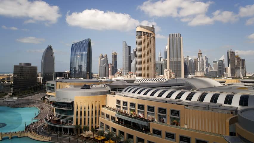 DUBAI, UNITED ARAB EMIRATES - CIRCA MAY 2011: The Modern Architecture and Development of city Malls and Skyscrapers Dubai City.