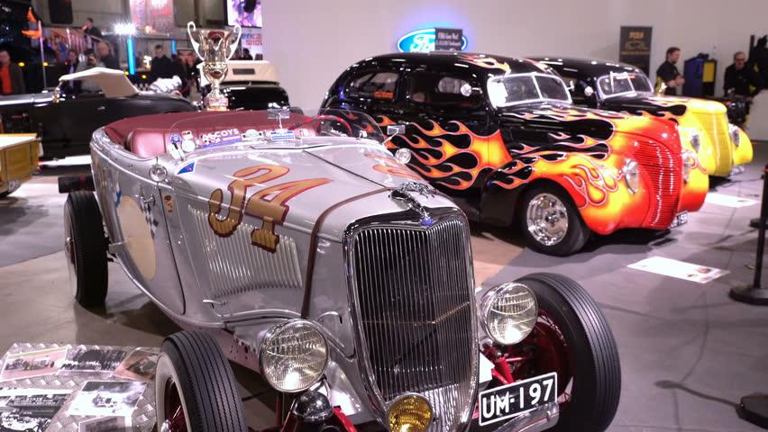 Helsinki Finland April 16 2017 Vintage White Chevrolet The 40th American